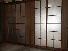 内装建具ガラスのワレ防止 in たえまつ