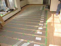 床暖房敷き